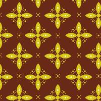Decorative batik floral pattern design for print retail and fashion vector