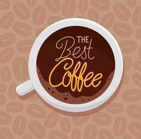 International coffee day poster with top view coffee cup vector