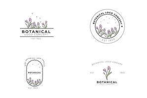 Minimal feminine modern botanical floral organic natural   abstract seasonal crocus classical logo design vector