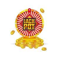 Jackpot spin wheel vector design on white background