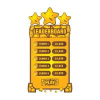 Rock leaderboard design vector isolated on white background