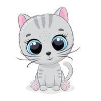lindo gato bebé. ilustración vectorial vector