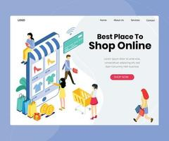 Online Shopping Purchase Landing Page