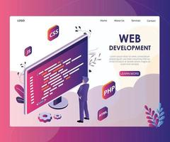 Website development Landing page Isometric Design