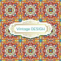 Antique, vintage background azulejos in Portuguese tiles style. vector