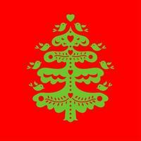 árbol de Navidad. plantilla de corte por láser vector