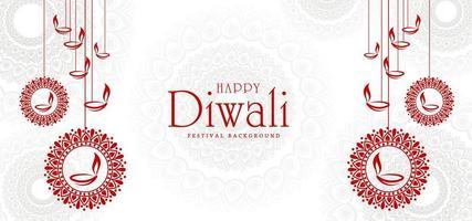 fondo artístico del festival de la tarjeta de felicitación de diwali