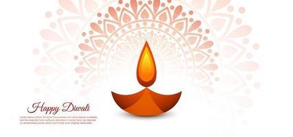 hermoso festival de diwali diya vector encantador