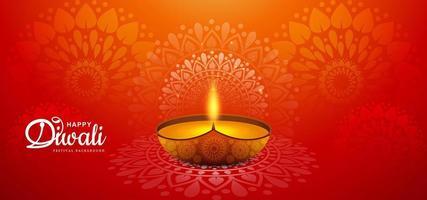 celebración feliz diwali festival vector