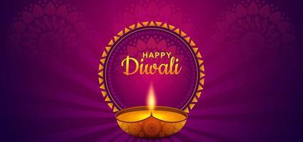 feliz diwali festival celebración vector