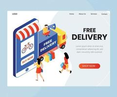 Free Delivery isometric Design