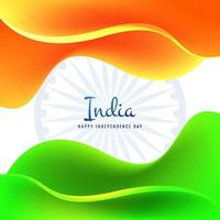 Tri Color National Flag Design for 15th of August  Independence day vector