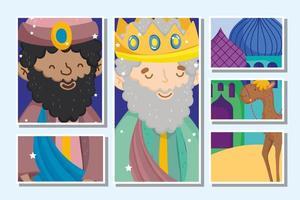 feliz navidad y tarjeta de natividad