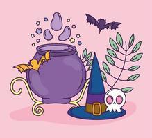 Cute Halloween poster vector