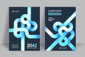 fondo de la ciudad plantilla de diseño de portada de libro de negocios