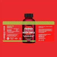 Bottle label, Package template design, Label design, mock up design label template, Supplement product packaging design vector