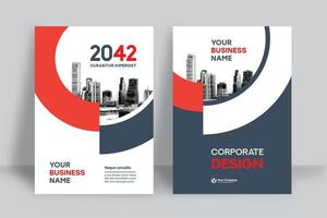 City Background Business Book Cover Design Template vector