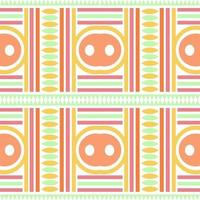 seamless multicolour native pattern background with geometric shape vector