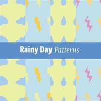 rainy day patterns vector
