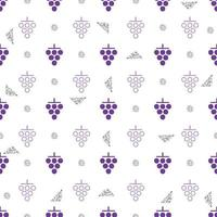 seamless purple grape with silver dot glitter pattern background vector