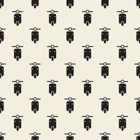 seamless monochrome motorcycle pattern background vector