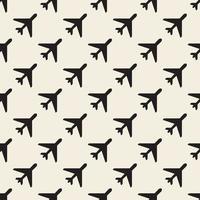 Fondo de patrón de sello de avión monocromo transparente