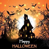 diseño de casa embrujada de halloween