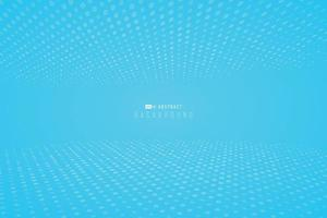 Abstract bright gradient blue wallpaper with halftone dotted minimal design background. illustration vector