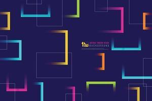 Línea colorida abstracta de fondo de tecnología de diseño cuadrado. vector de ilustración