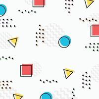 Diseño de patrón geométrico colorido abstracto con fondo decorativo de medio punto. vector de ilustración