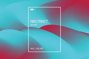 Diseño de malla fluida abstracta de fondo de cubierta de decoración azul y rojo brillante. vector de ilustración