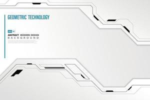 Fondo abstracto de tecnología moderna. vector de ilustración
