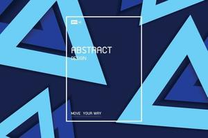 Abstract blue triangle geometric of minimal design artwork decorative pattern background. illustration vector