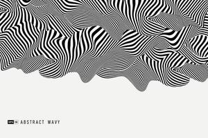 Abstract black and white minimal 3D decoration background. illustration vector