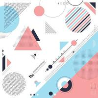 Abstract of geometric pattern design with elements decoration artwork. illustration vector