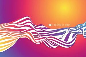 Abstract colorful wavy line of fluid design background. illustration vector