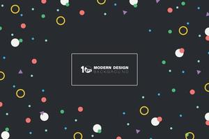 Abstract colorful shape of geometric pattern design on dark background. illustration vector