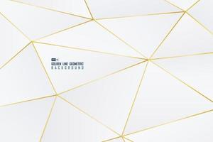 Abstract golden line decorative of geometric shape with gradient white background. illustration vector