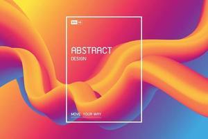 Color fluido abstracto de fondo de decoración de movimiento de diseño de línea de forma. vector de ilustración