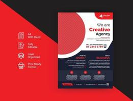 Corporate business modern flyer template vector