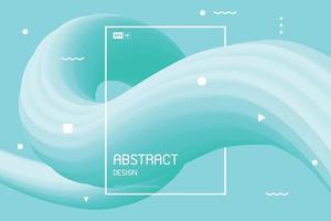 Resumen de fondo de diseño de línea de fluido verde degradado. vector de ilustración