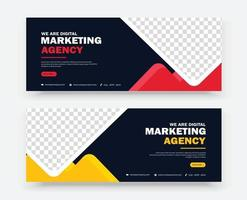 business marketing banner design template vector