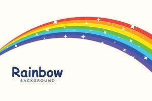 rainbow background template vector
