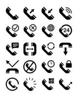 phone interface icon set vector