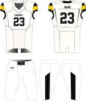 American Football jersey uniforms mock ups design vector