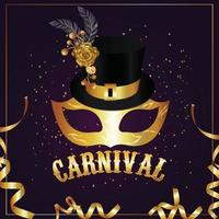 Carnival celebration party greeting vector