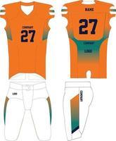 American Football jersey uniforms mock ups vector