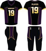camiseta de fútbol americano diseño deportivo vector
