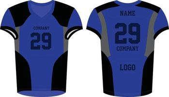 American Football uniforms mock ups vector