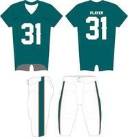Sublimated Football Uniform Mock ups vector